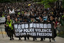 Hong Kong protest China's extradition law