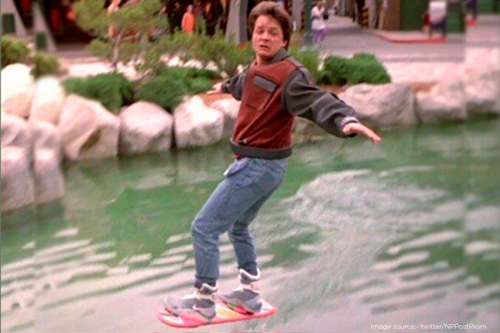 Back To The Future 2 iconic hover board
