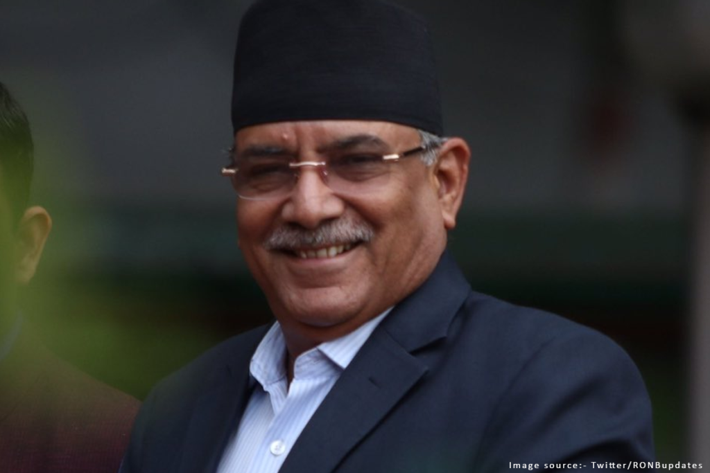 Leader of the Prachanda faction, who are rallying against Oli