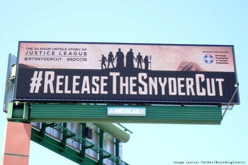 Snyder Cut Movement taking over the world; victory for artistic freedom